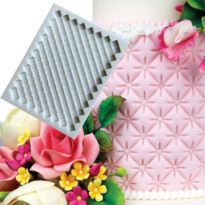 [해외]/Mini Continuous Quilting Mould silicone mold high temperature DIY chocolate cake decoration fondant Epoxy silicone mold CakeA097